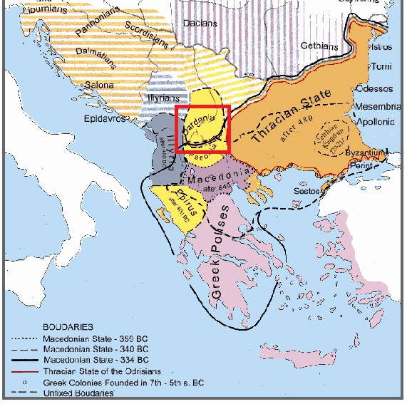 Dardania and Illyria 559 BC