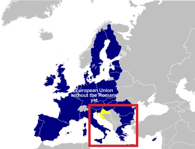 European Union map 2013 without the Hamitic Romans yet