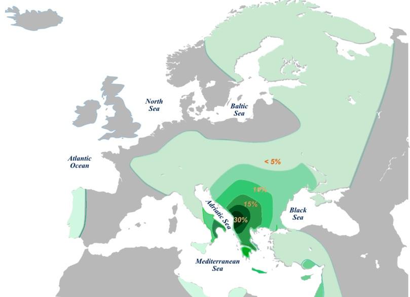 E-V13 on Roman senatorial Provinces