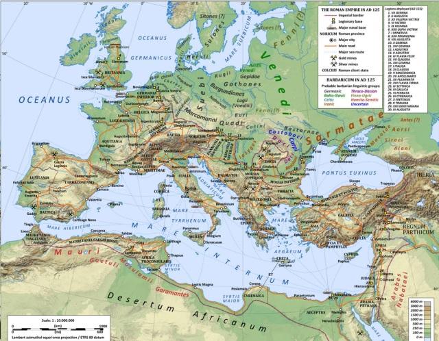 Hamitic E-M35 E-V13 Roman Legions AD 125