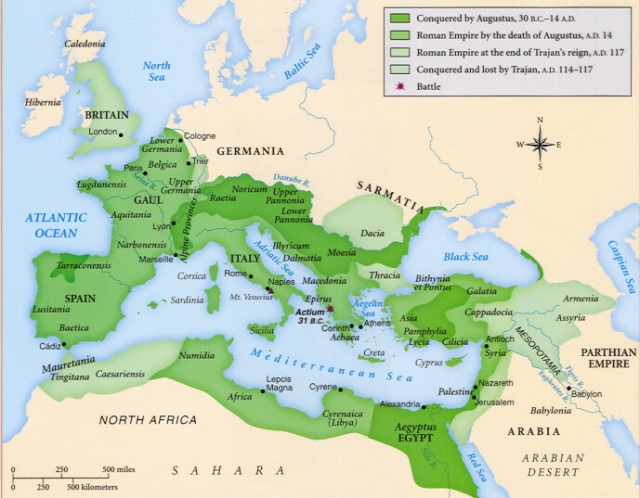 Hamitic Roman Empire from 30 BC to 117 AD
