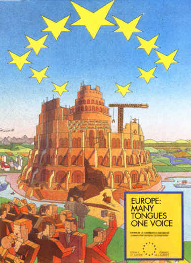 Hamitic Tower of Babel Europe Many tongues one voice