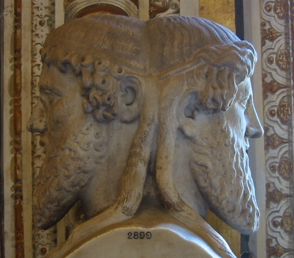 The two faces of the god Janus - the Babylonian Nimrod.