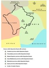 Kosovo Dardania 600 BC in the Byzantine Empire