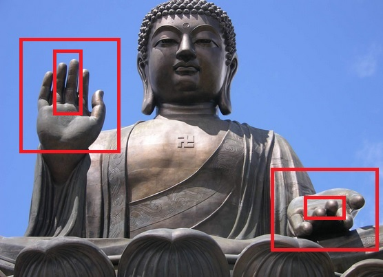 Nimrod's Hand symbols in Buddah