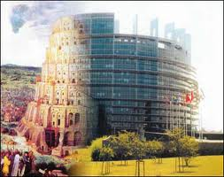 The Hamitic Tower of Babel by Nimrod and the European Parliament in One
