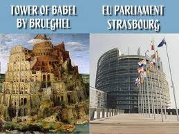 The Hamitic Tower of Babel by Nimrod and the European Parliament
