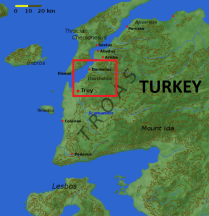 Troy and Dardania before the fall by the Achaeans (Greeks)