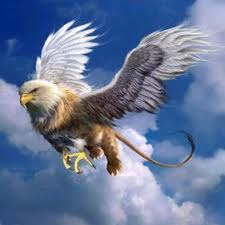 The griffin, griffon, or gryphon is a legendary creature with the body of a lion and the head and wings of an eagle.