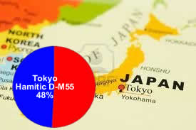 48% of Tokyo Greater area belong to the Hamitic haplogroup D-M55