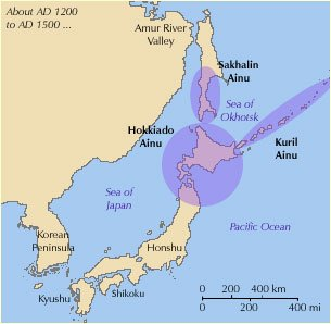 Hamitic Haplogroup D-M55 in the Ainu Islands Japan