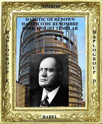Hamitic of Renown Benito Mussolini